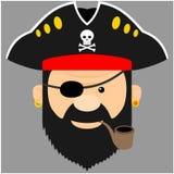 Piratkopiera illustrationen Royaltyfria Bilder