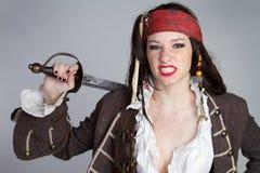 piratkopiera kvinnan Arkivfoton