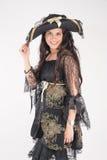 Piratkopiera kvinnan Fotografering för Bildbyråer