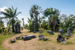 Piratkopiera kyrkogården Arkivfoto
