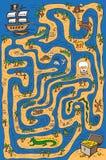 Piratkopiera labyrint Arkivbilder