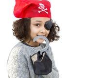 Piratkopiera lilla flickan Fotografering för Bildbyråer