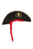 Piratkopiera maskeradkläderhatten Arkivbilder