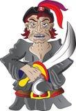 Piratkopiera med svärd Royaltyfria Bilder