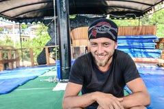 Piratkopiera och dykaren Anaconda Fotografering för Bildbyråer