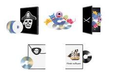 Piratkopiera piratkopieringprogramvara Royaltyfri Fotografi