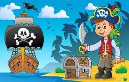 Piratkopiera pojkeämnebild 5 stock illustrationer