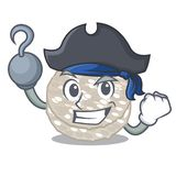 Piratkopiera riskakor i ett krustecken stock illustrationer