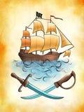 piratkopiera shipen Arkivbilder