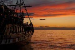 Piratkopiera shipen Royaltyfri Bild