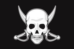 Piratkopiera skallelogoen Royaltyfri Foto
