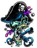 Piratkopiera skallen Royaltyfri Bild
