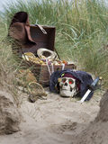 Piratkopiera skatten Arkivbilder