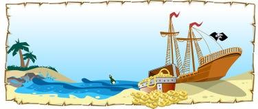 piratkopiera skatten Arkivfoto