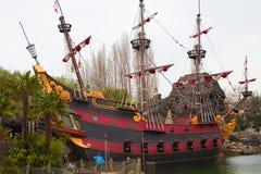 Piratkopiera skeppet Arkivfoto