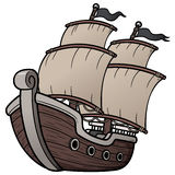 Piratkopiera skeppet Arkivbilder