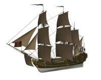Piratkopiera skeppet - 3D framför stock illustrationer