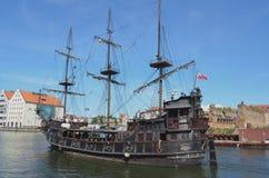 Piratkopiera skeppet för turister, Gdansk, Polen Tom Wurl Royaltyfria Bilder