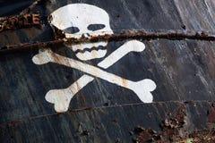 Piratkopiera skeppet med skalle 1 Arkivfoton