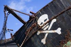 Piratkopiera skeppet med skalle 3 Arkivbild