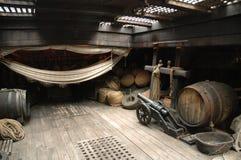 Piratkopiera skepphållen royaltyfri bild