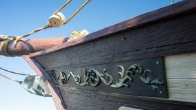Piratkopiera skeppmasten Arkivbild