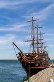 Piratkopiera spansk gallion i Sopot Arkivfoton