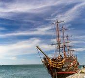 Piratkopiera spansk gallion i Sopot Royaltyfri Foto