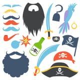 Piratkopiera stöttauppsättningen vektor illustrationer