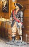Piratkopiera statyn i Saint Tropez Fotografering för Bildbyråer