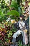 Piratkopiera statyn med öl Arkivfoton