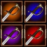 Piratkopiera svärdet Arkivbild
