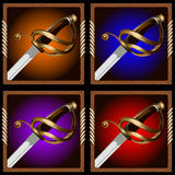 Piratkopiera svärdet Arkivfoto