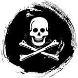 Piratkopiera symbolet glade roger stock illustrationer