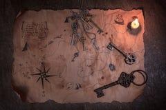 Piratkopiera tabellen, kaptenkabininre royaltyfri foto
