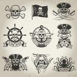 Piratkopiera tecknet stock illustrationer