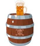 Piratkopiera trumman stock illustrationer