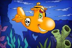 piratkopiera ubåten Royaltyfria Foton