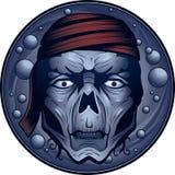 piratkopiera undead royaltyfri illustrationer