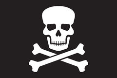 Piratkopiera vektorflaggan Arkivfoton