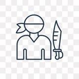 Piratkopiera vektorsymbolen som isoleras på genomskinlig bakgrund, linjär pi stock illustrationer
