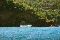 Piratkopierar av det karibiska läget och stranden - St Lucia Royaltyfria Foton