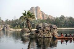 Piratkopierar av det karibiskt i Disneyland royaltyfri bild
