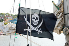 Piratkopierar flaggan Royaltyfri Bild