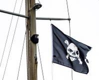 Piratkopierar flaggan Fotografering för Bildbyråer