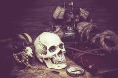Piratkopierar och skatten Fotografering för Bildbyråer