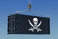 Piratkopiering som smugglar begrepp 3d royaltyfri illustrationer