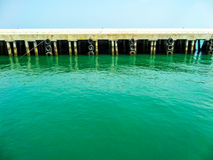 Pier barrier Royalty Free Stock Images