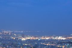 Pireaus et Athènes Grèce, skyview Images stock