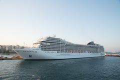 Pireaus Greece/ July 17, 2018: Cruise ship at dock royalty free stock image